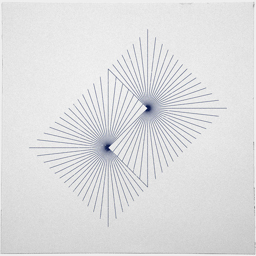 #262 Binary suns – A new minimal geometric composition each day