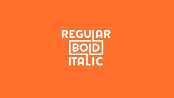 Regular Bold Italic #fonts #type #typography