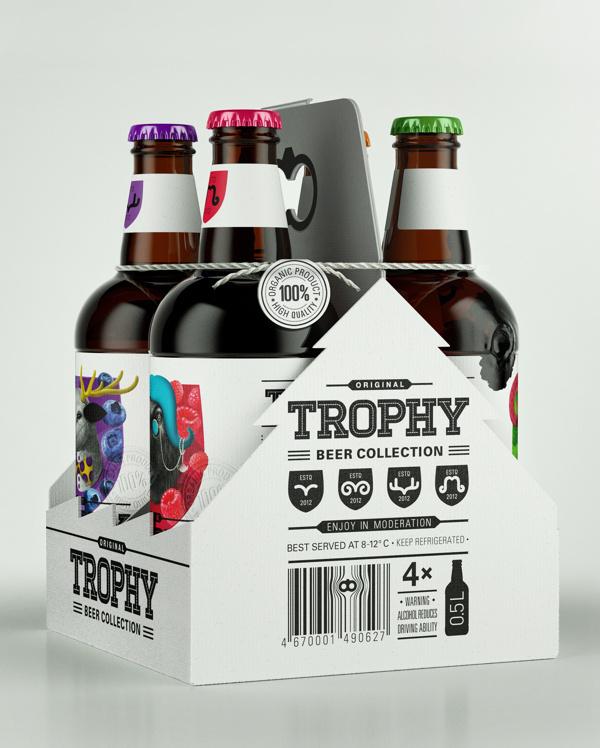 Trophy Beer #beer #illustration #typography