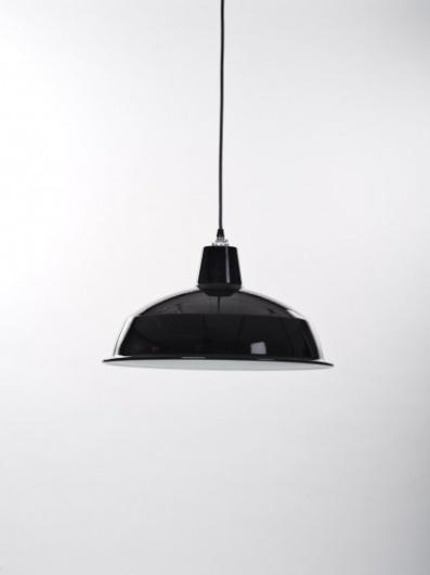 Black Industrial Pendant Light for Workroom Design - Douglas + Bec #shade #lamp #retro
