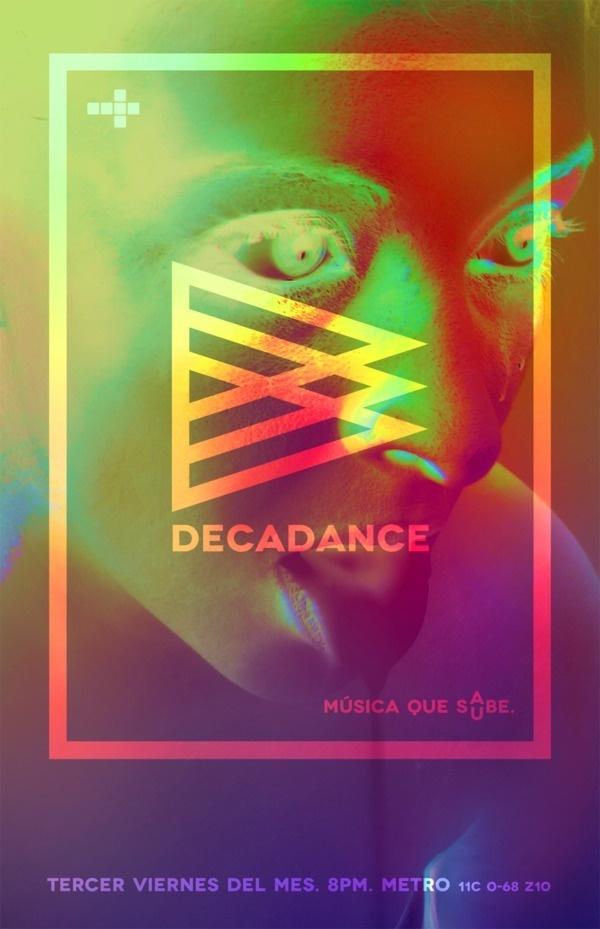 DECADANCE on Behance #poster