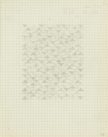 The Josef & Anni Albers Foundation #anni #notebook #from #a #drawing #geometric #on #albers #1974 #pencil #paper