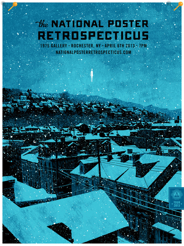 The National Poster Retrospecticus #screen #print #poster