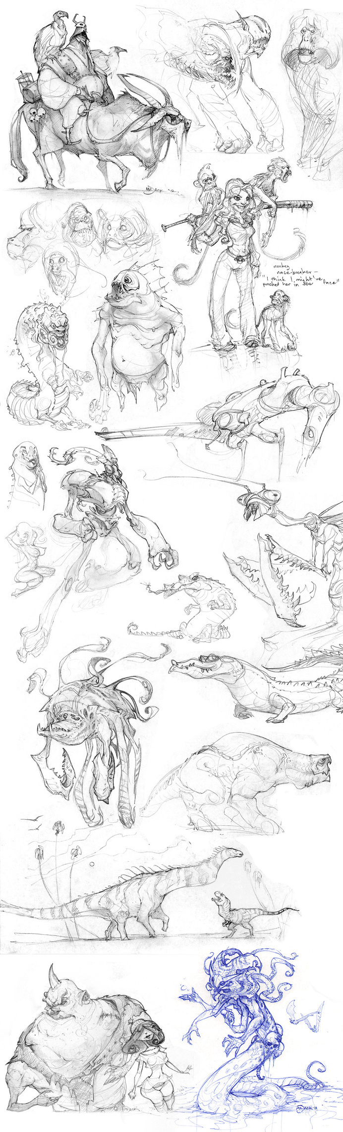 Another Pile by Mr--Jack #fantasy #design #drawing #illustration #art #character #sketch