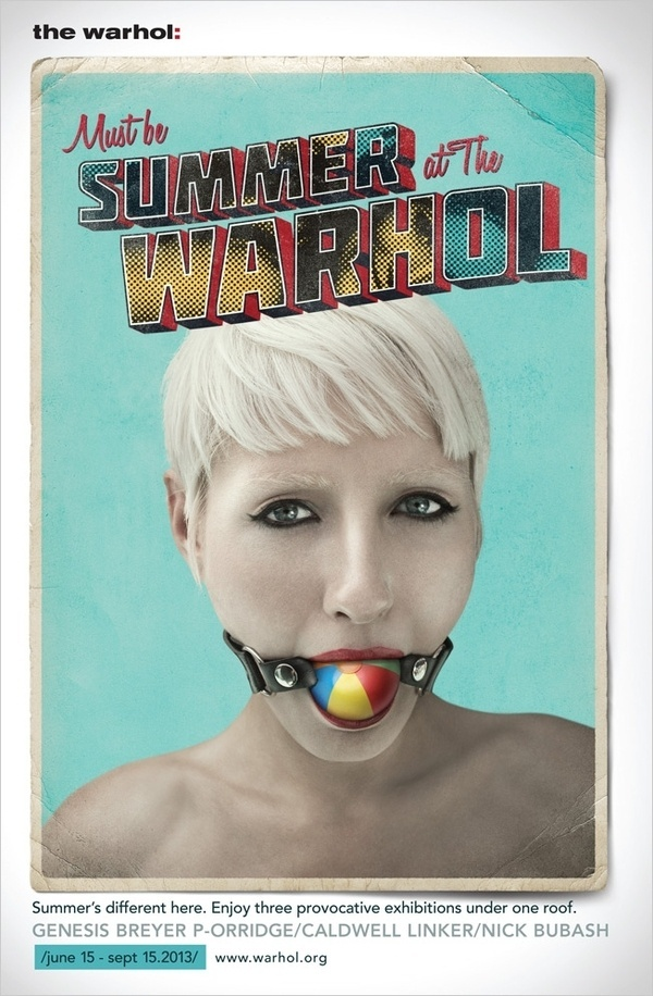 Ads for Pittsburgh's Warhol Museum Wish You a Very Uncomfortable Summer | Adweek #andy #pop #museum #warhol #advertising #art