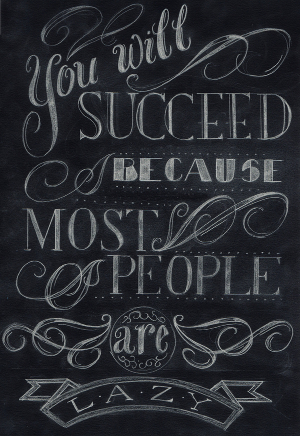 You Will Succeed by Kristen Roszkowski #lettering #quote #chalk #hand #sketch