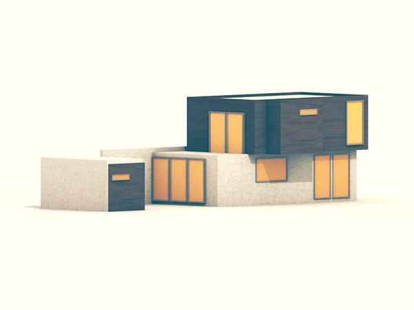Modern Home #illustration