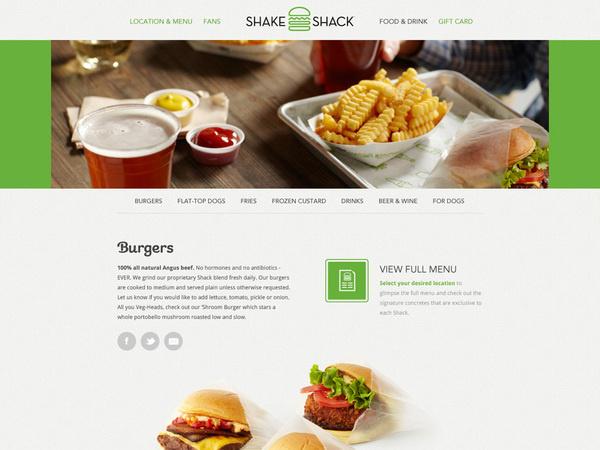 Shake Shack Website #branding