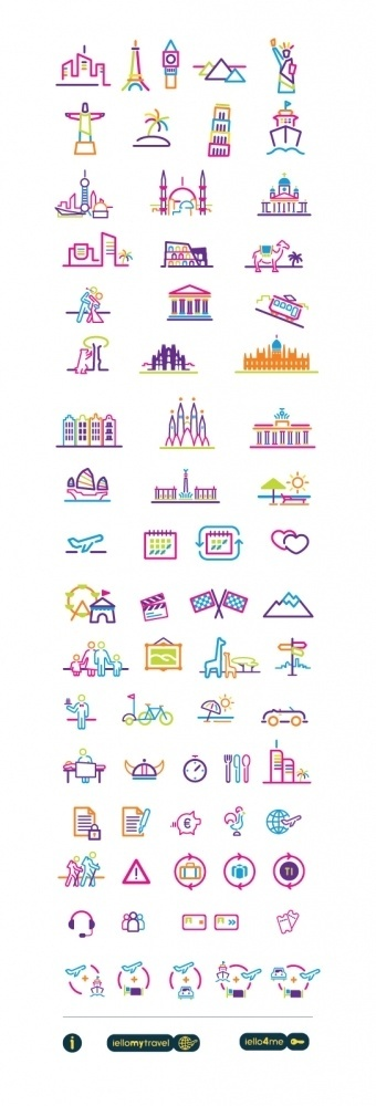 IELLO TRAVEL on the Behance Network #icon #pictograms
