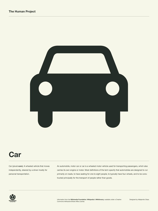 The Human Project Poster (Car) #inspiration #creative #information #pictogram #collection #design #graphic #human #grid #system #poster #typography
