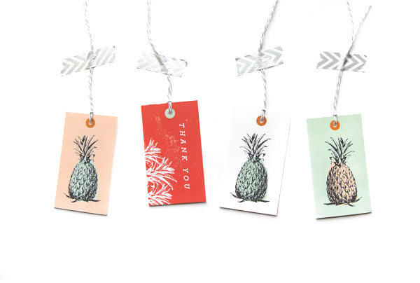 Pineapple tags #tropical #you #stationary #card #thank #tags #pineapple