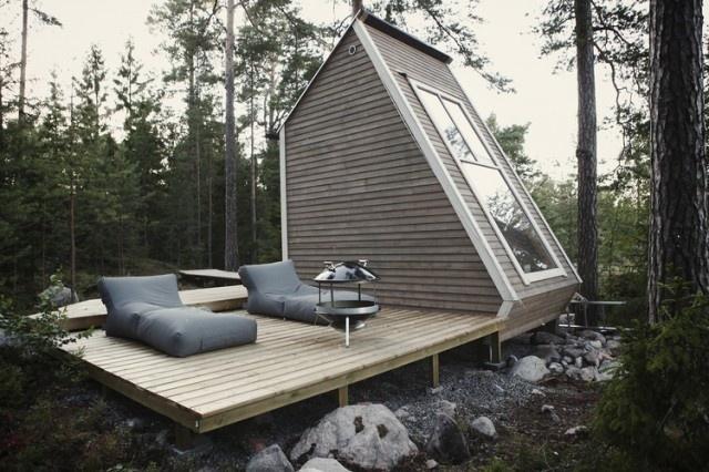 Micro Wooden Cabin Architecture by Robin Falck #cabin