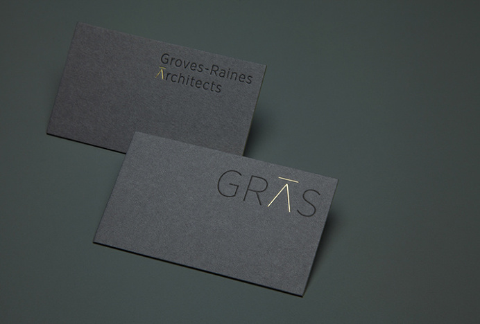Gras & Groves-Raines Architects by Graphical House #stationary #brand design
