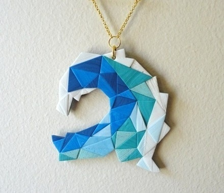 Accessories / Nomilktoday | Pikaland #tangram #blue #origami #wave