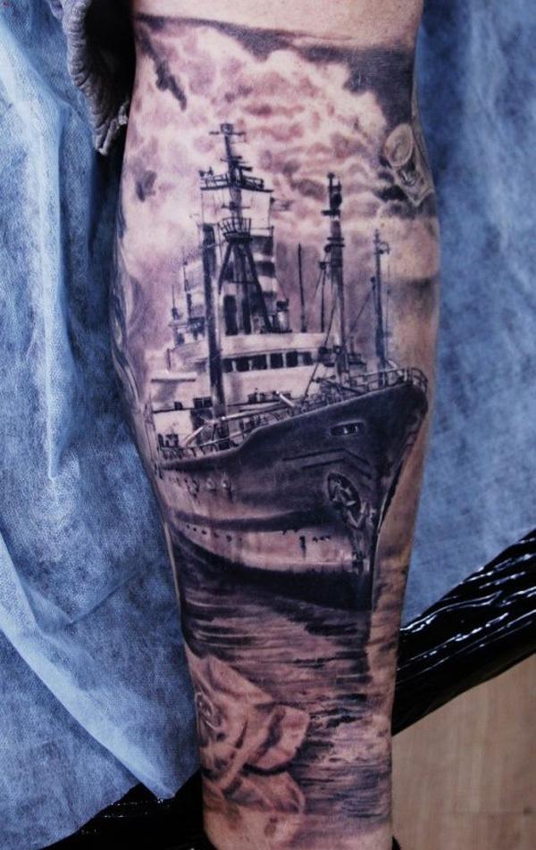 40 Boat Tattoo Designs #tattoo #boat