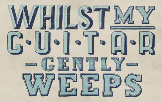Lettering by Tobias Hall