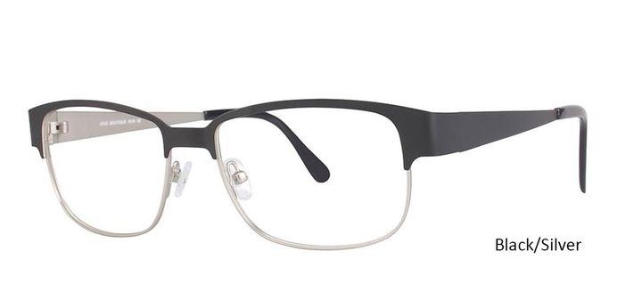 Black/Silver Vivid Eyeglasses Vivid Boutique 5016.
