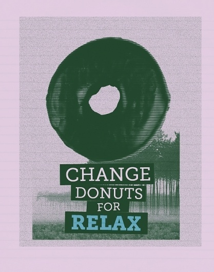 CHANGE DONUTS FOR on the Behance Network #creative #donuts #print #digital #photography #art