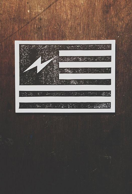 Neuarmy Surplus Co. — Bolt Flag #america #print #lightning