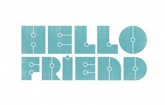 Ed Nacional | design / typography / illustration #blue #hello #typography