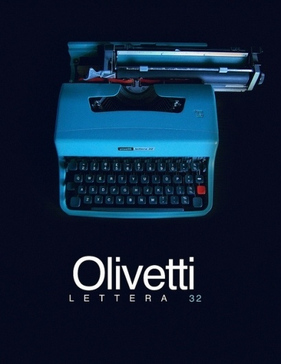 Olivetti Lettera 32 Typewriter (teaser) | Flickr - Photo Sharing! #typewriter #poster
