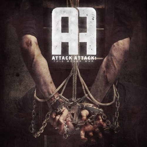 Google Image Result for http://dyingscene.com/wp-content/uploads/attack-attack-this-means-war-e1321299956905.jpg #chains #cover #attackattack #grungle #cd #typography