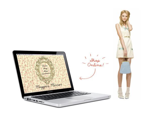 Maggie's Mirror #branding #maggies #website #store #mirror #vintage