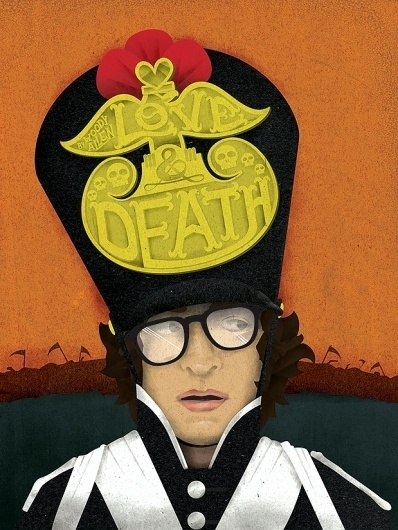 Love and Death #movie #and #illustration #woody #poster #allen #death #love