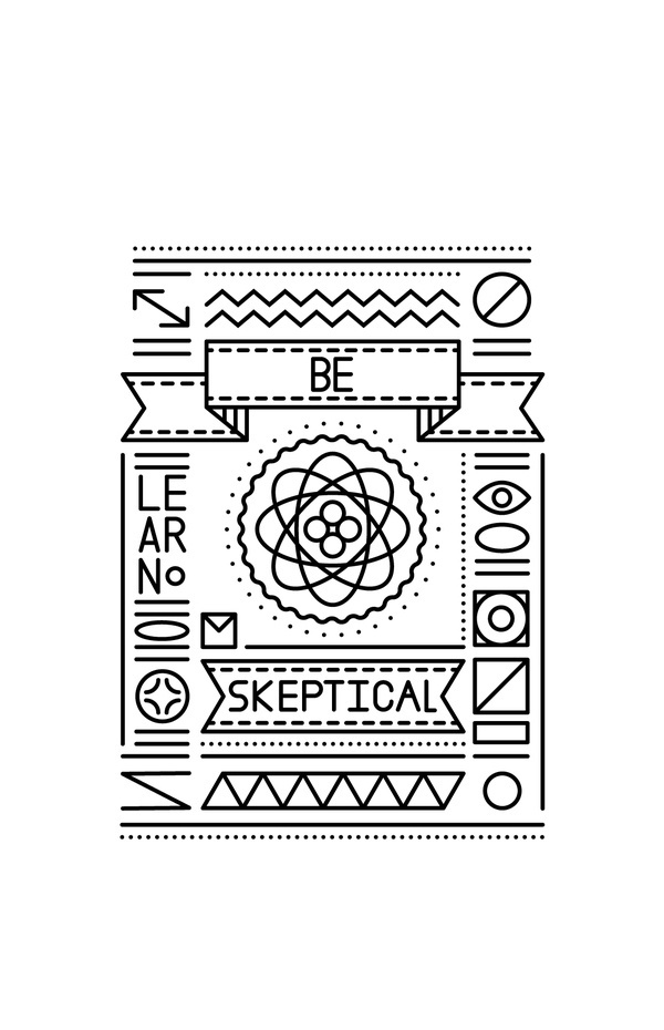 Fun Conceptual Line Posters on the Behance Network #shapes #atom #lines