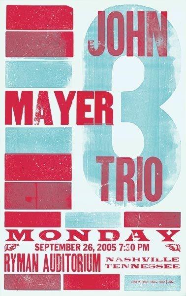 gig poster #gig #mayer #john #poster