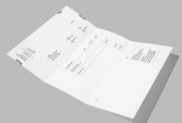HYPE TYPE STUDIO on Behance #type #layout #invoice