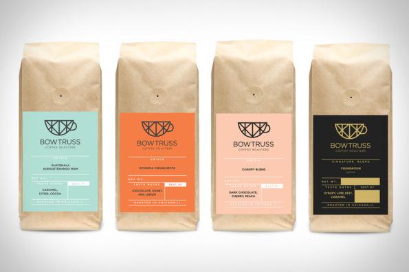 Bow Truss Coffee #pattern #packaging #label #identity #coffee