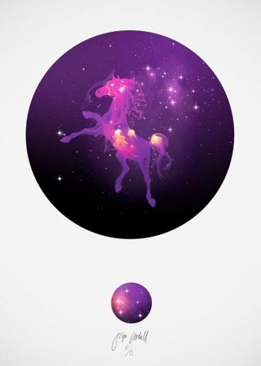 Centauri #horse #unicorn #goodall #print #jasper #poster