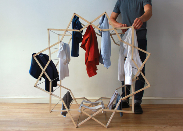 Star shaped clothes horse by Aaron Dunkerton #star