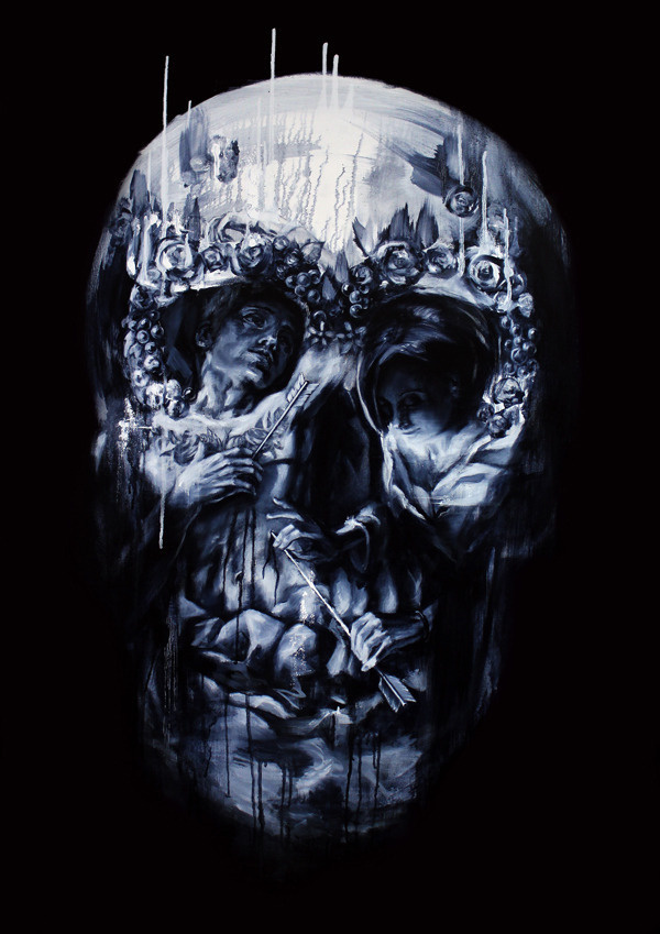 Image of Tom French 2 x LAMINATE Most Wanted Print Series #skull