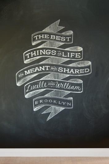 Custom Chalk Lettering by Dana Tanamachi | Abduzeedo | Graphic Design Inspiration and Photoshop Tutorials #chalk #typography