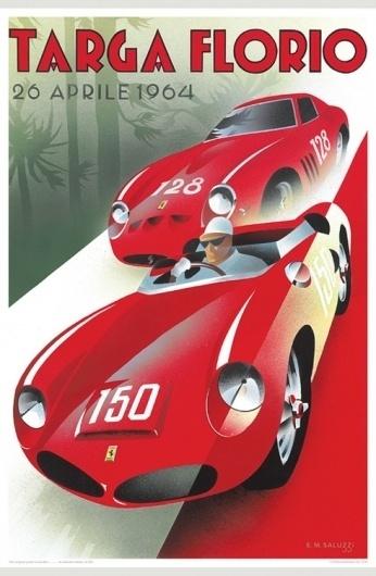 Merde! - Graphic design (Targa Florio vintage ad,... #poster