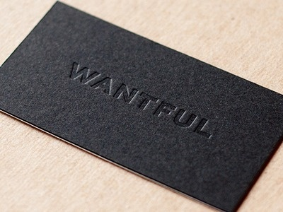 Dribbble - Wantful Cards by Taylor Pemberton #card #business