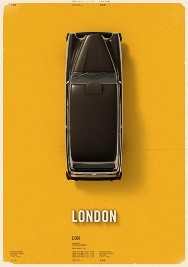 Citycab poster on the Behance Network #mehmet #cab #taxi #poster #gozetik #citycab #car