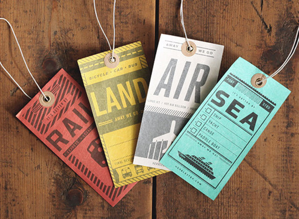 Luggage Tag Set | Two Arms Inc. #train #print #travel #ship #plane #luggage #tags