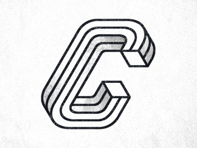 Dribbble - Type Fight C by Seth Nickerson #letter #impossible #shape #typography