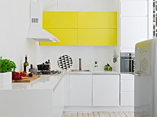11 Rooms with Sunshine y Bright Spots #interior #design #yellow #decor #kitchen #deco #decoration