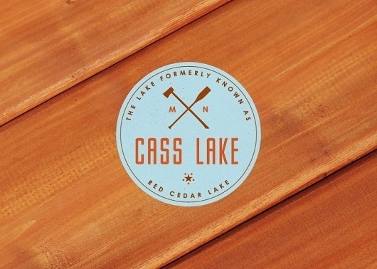 Logo Project: Branding 10,000 Lakes #effects #knock #avant #type #out #wood #logo #colour #typography