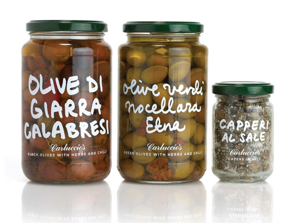 Carluccio's Antipasti range | Irving #packaging #italian #olives #clear