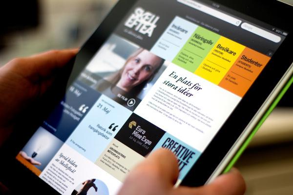 Skelleftea.se on Behance #ipad #web