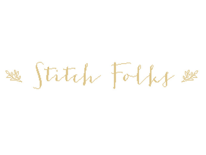 Stitch Folks Etsy Banner #banner #cross #embroidery #etsy #logo #stitch