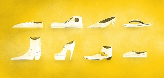 *** Curtis Baigent *** #illustration #yellow #shoes