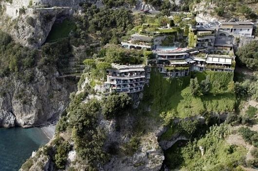 I wish i were at… Il San Pietro di Positano (NOTCOT) #hotel #cliff #architectire