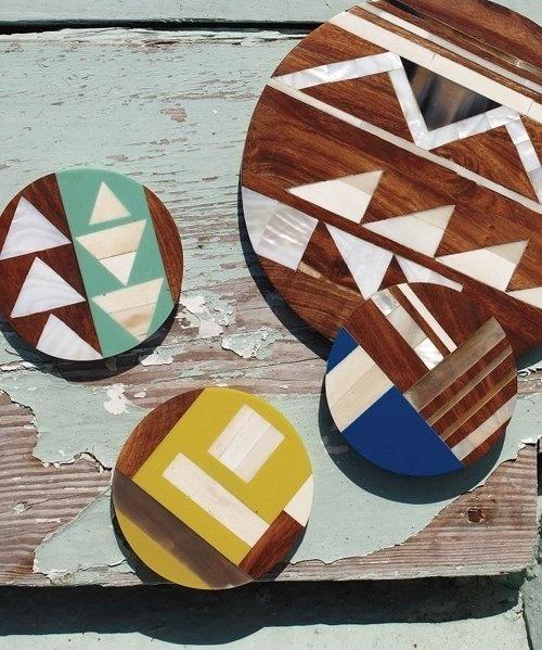 geometric #wood #horn #geometric