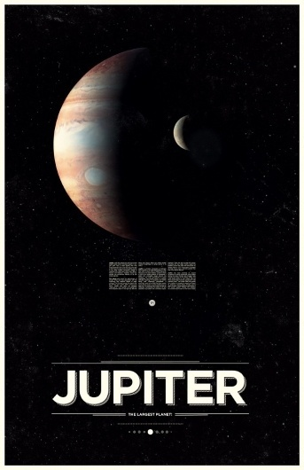 Jupiter - Under the Milky Way - Ross Berens #jupiter #space #typ #posters #planets #typography